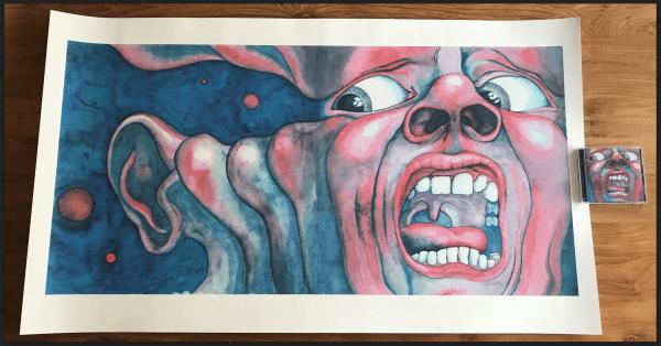 """Sérigraphies de """"Screaming Face"""" de Barry Godber"""