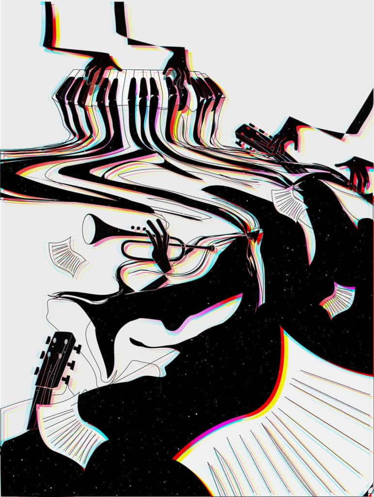 Illustration Jazz signée Emilia Hasanova