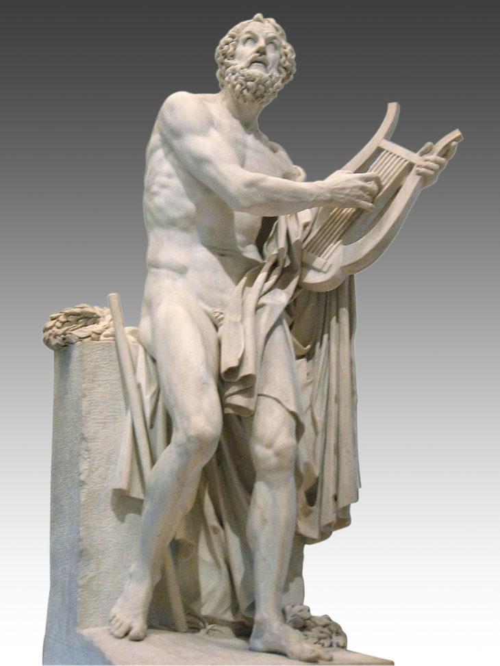 Homère , sculptures, musée du Louvre